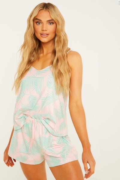 Multicoloured Cami Short Pyjama Set